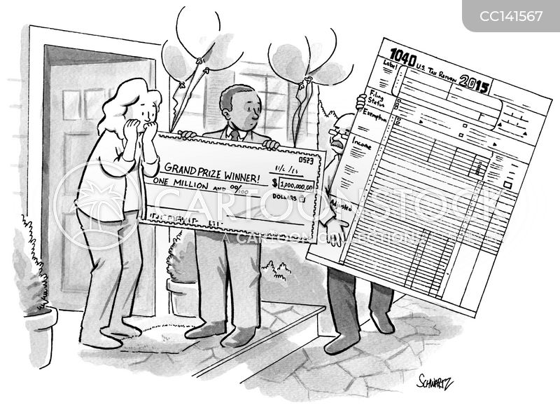 tax season cartoon