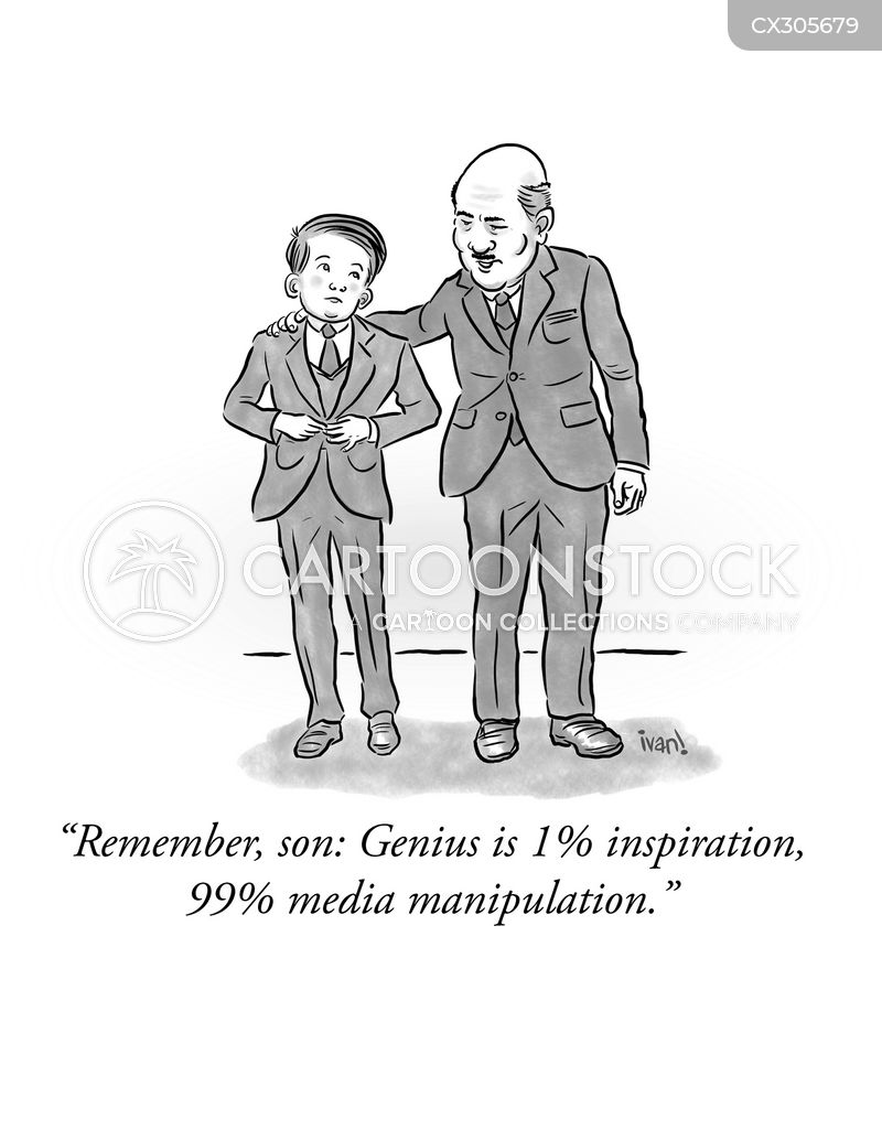 modern media cartoon