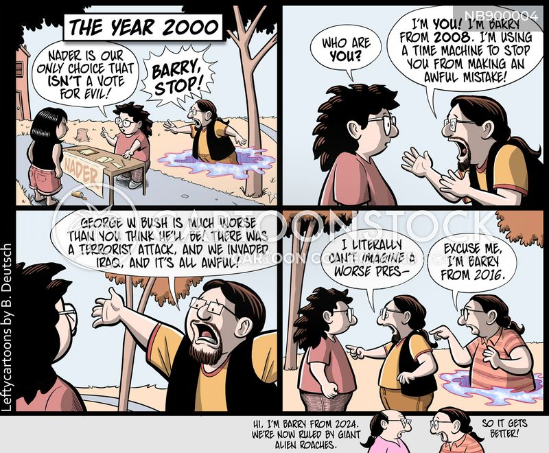 time travellers cartoon