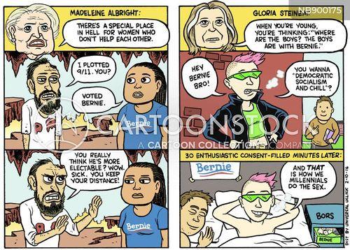 bernie sanders cartoon