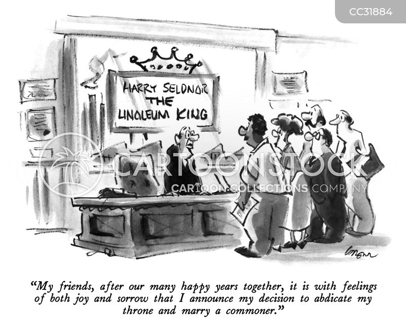 abdication cartoon