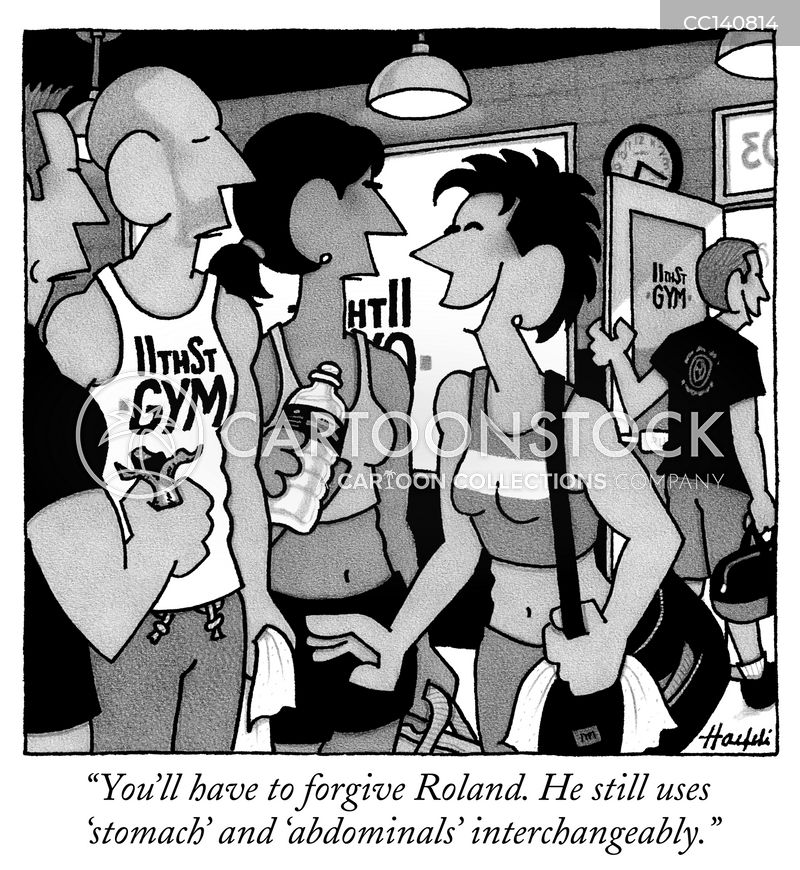 gym-goer cartoon