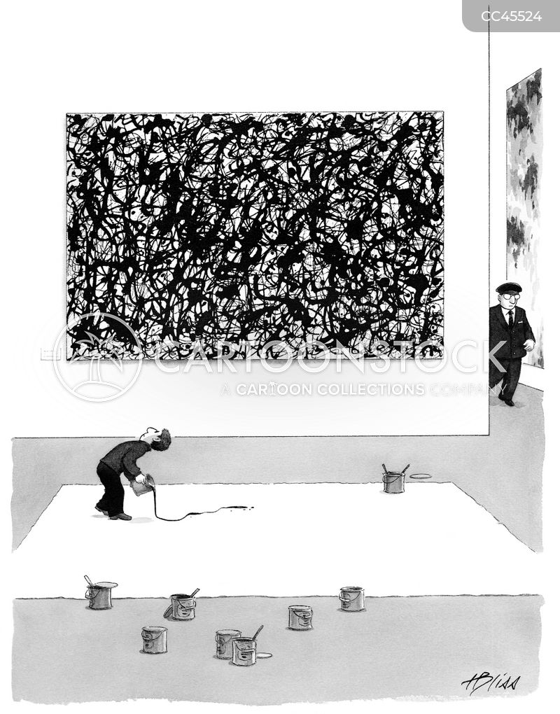 art gallery cartoon