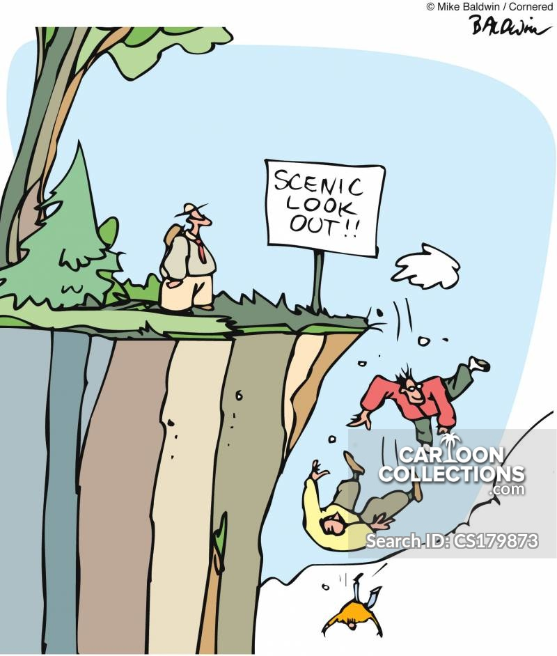 Cliff Hanger cartoon