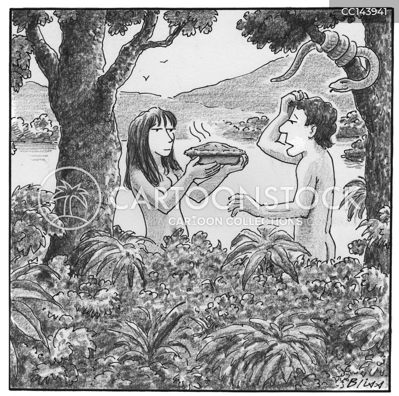 forbidden fruit cartoon