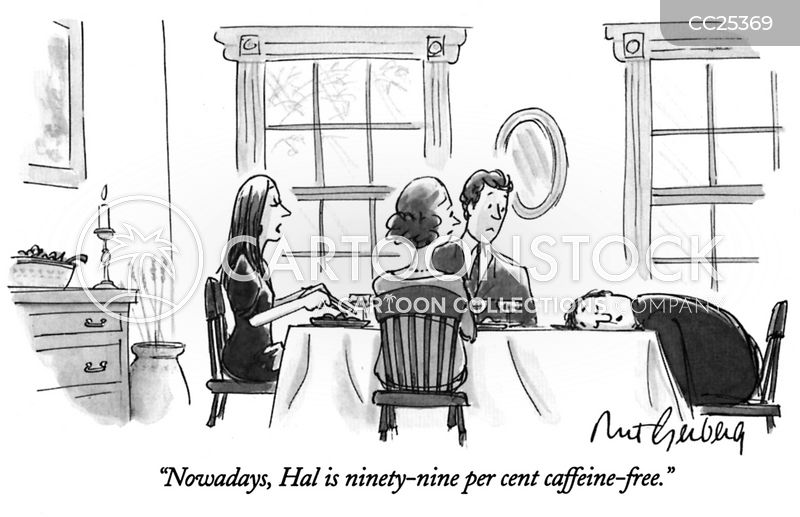 Coffee Addiction cartoon
