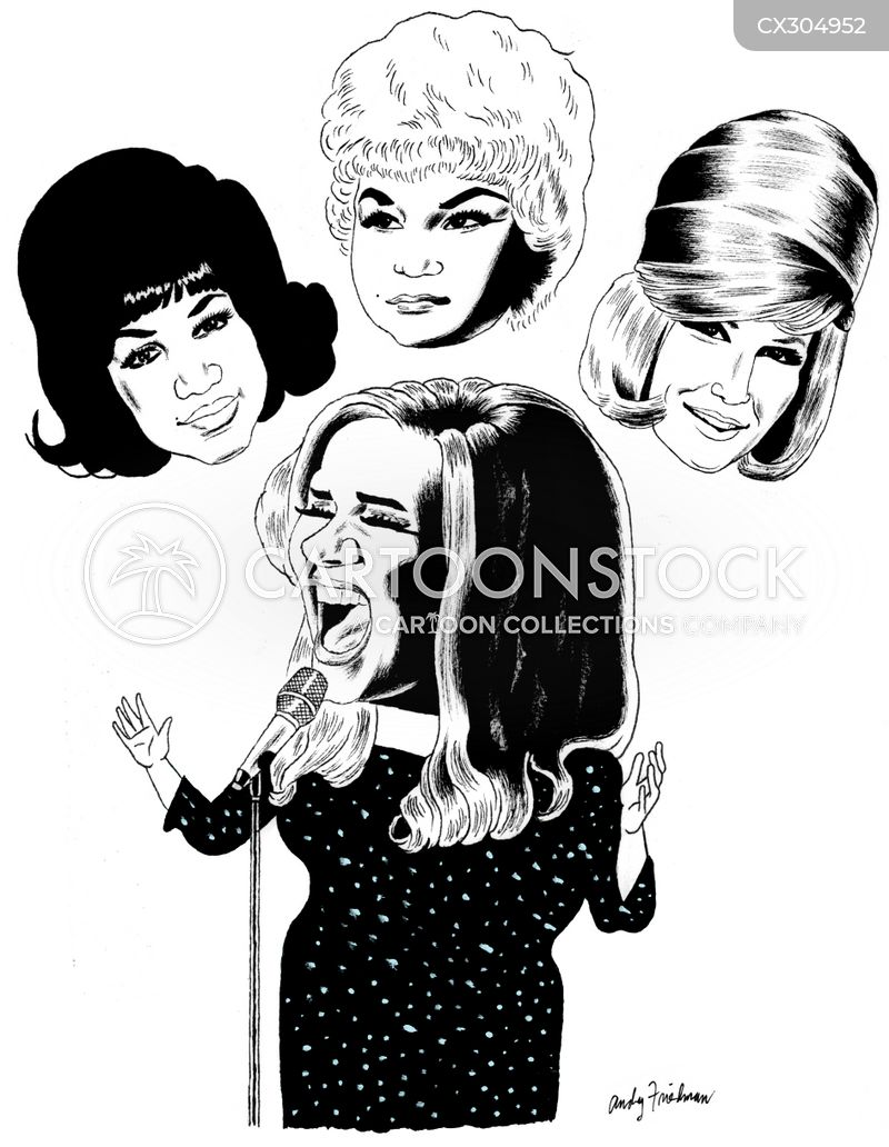 Dusty Springfield cartoon