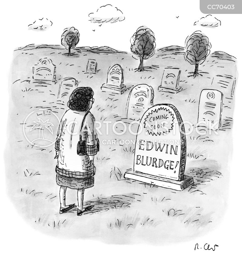 grave stone cartoon