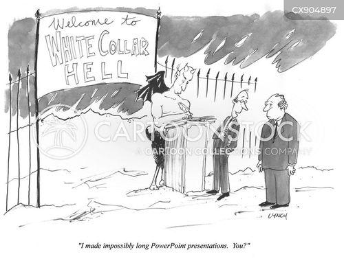 white collar workers cartoon