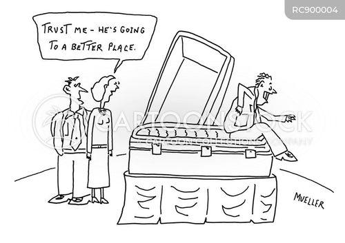 faking death cartoon