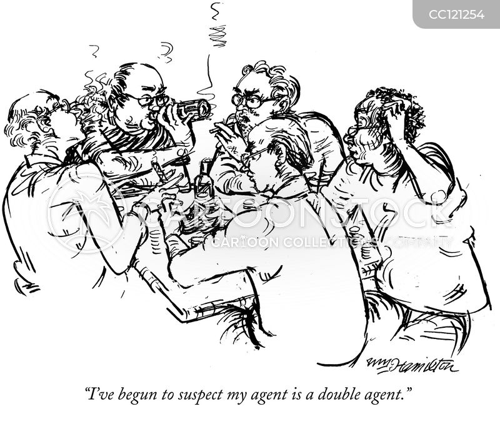 poker players cartoon
