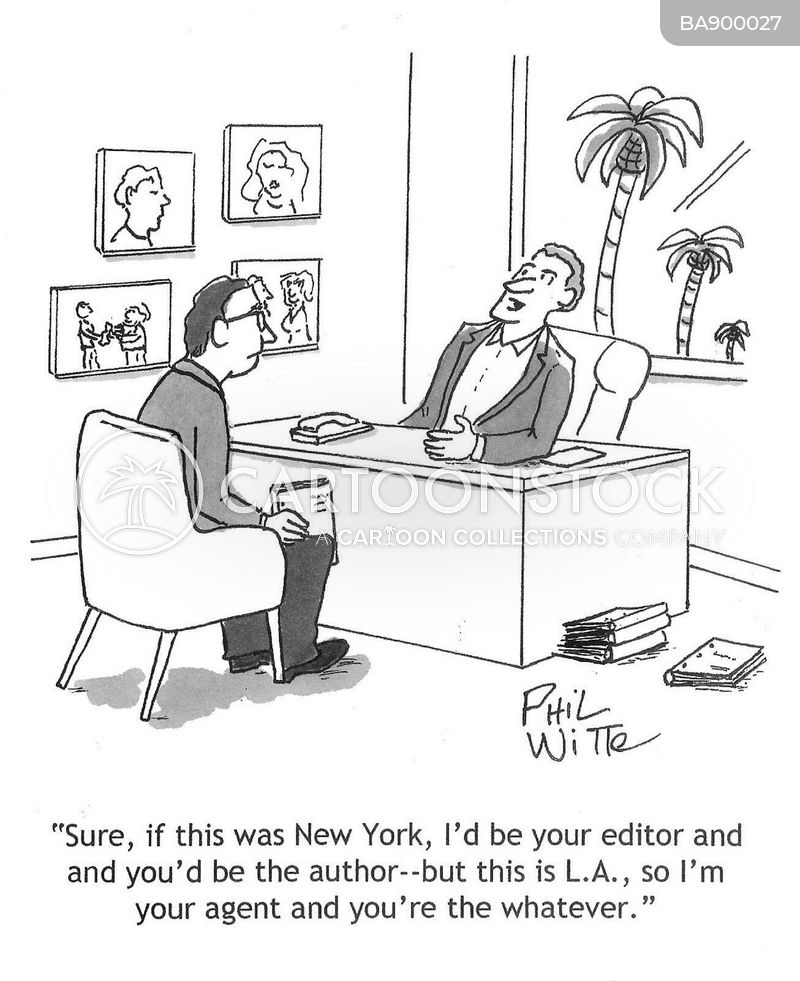 talent agent cartoon