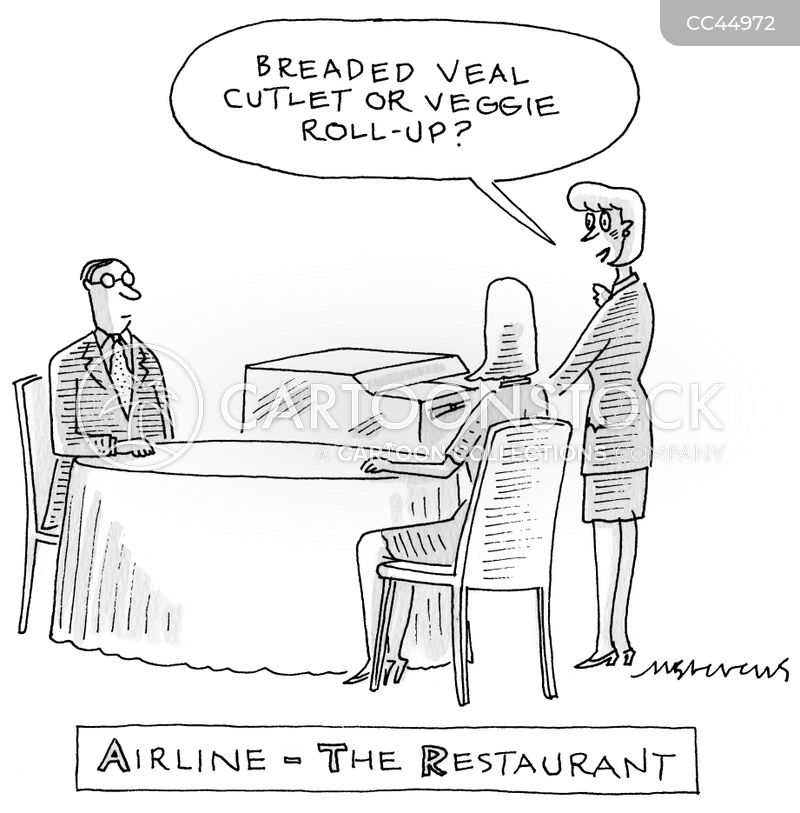 Vegetarian Option cartoon