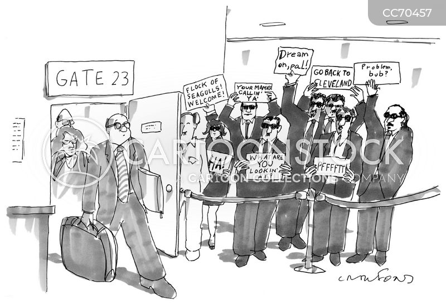 unwanted arrival cartoon