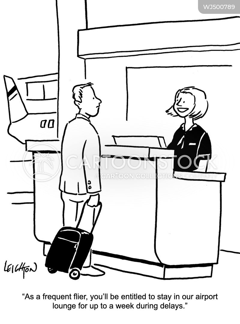 flight delays cartoon