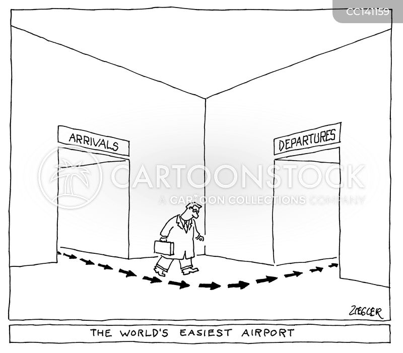 departures cartoon