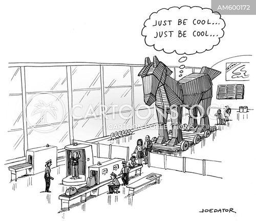 wooden horse cartoon