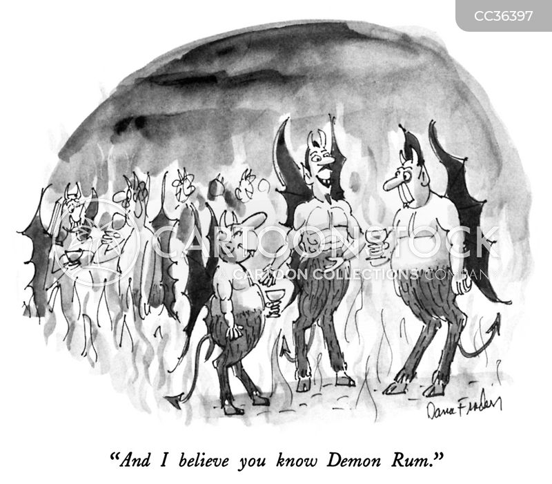 satanic cartoon