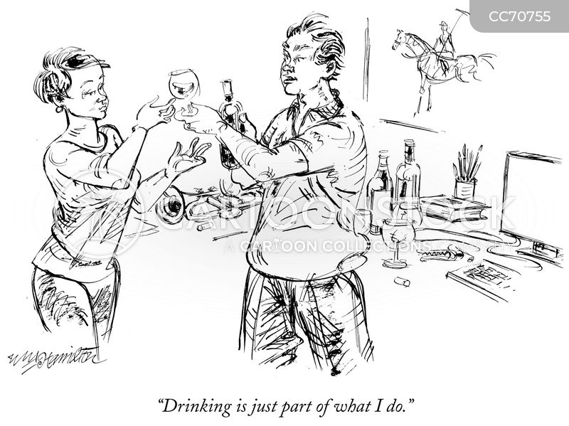 drinking problems cartoon
