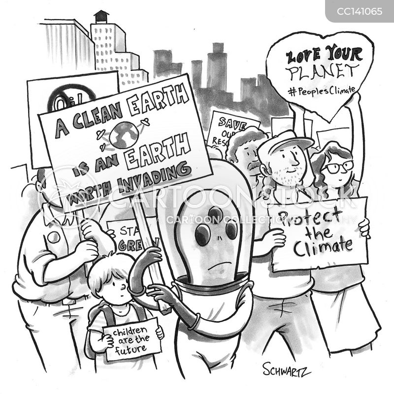 demonstration cartoon