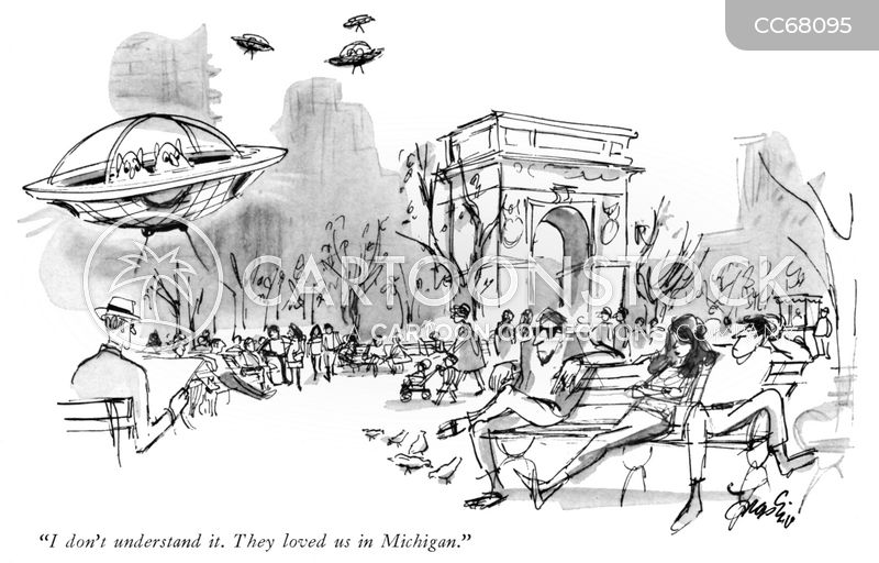 michigan cartoon