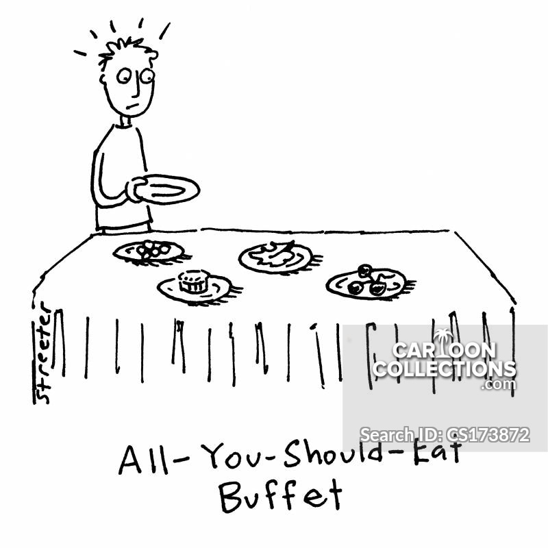All-you-can-eat Buffet cartoon