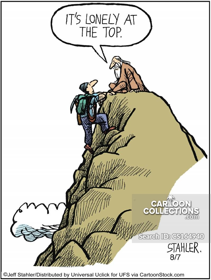 Climbing Equipment cartoon