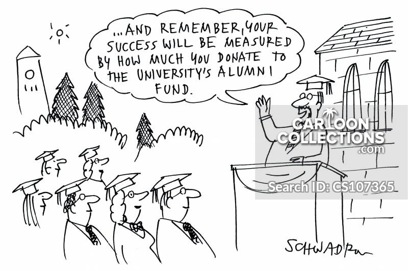 alumni fund cartoon