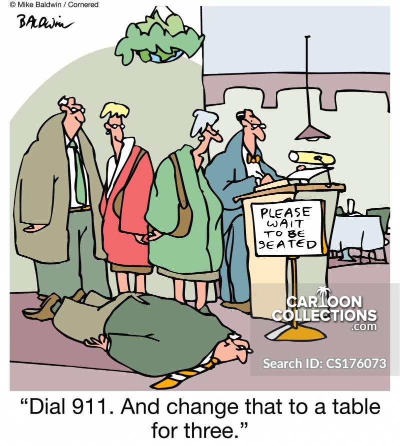 reserved table cartoon