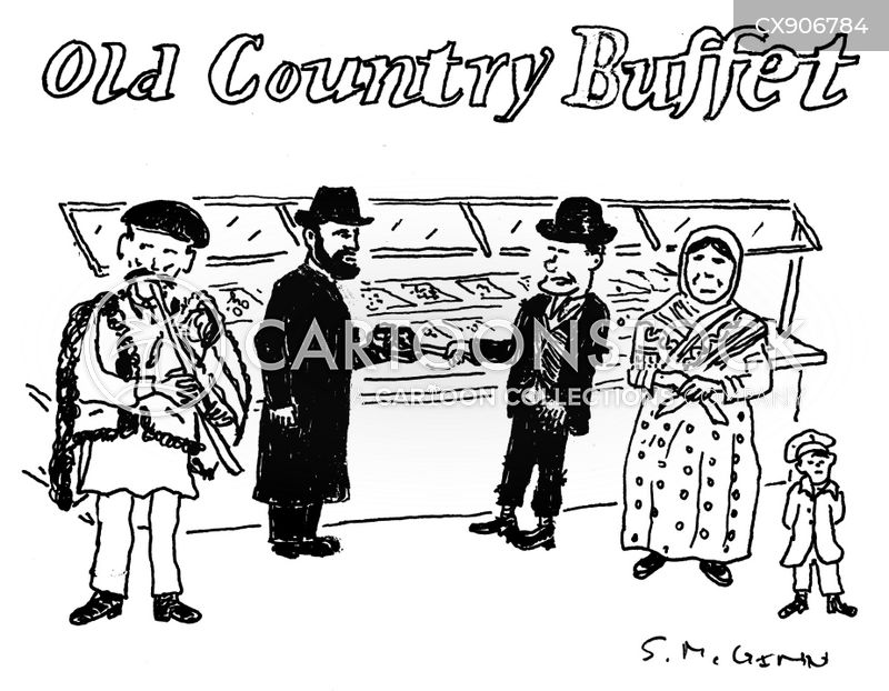 old country buffet cartoon