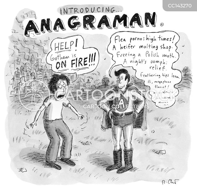 Anagram cartoon