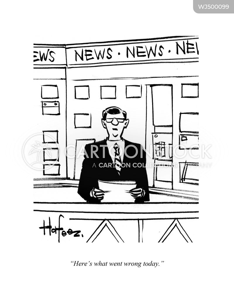 tv broadcaster cartoon