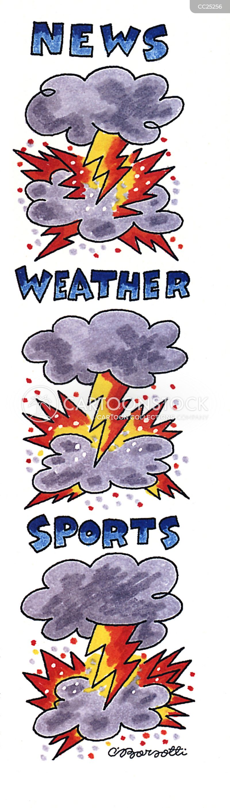 thunder storms cartoon