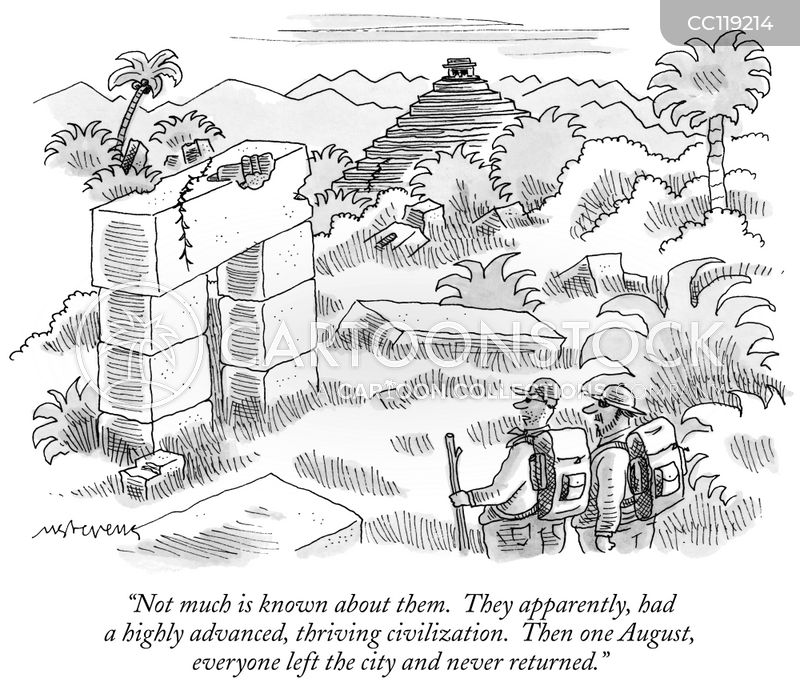 ancient ruins cartoon