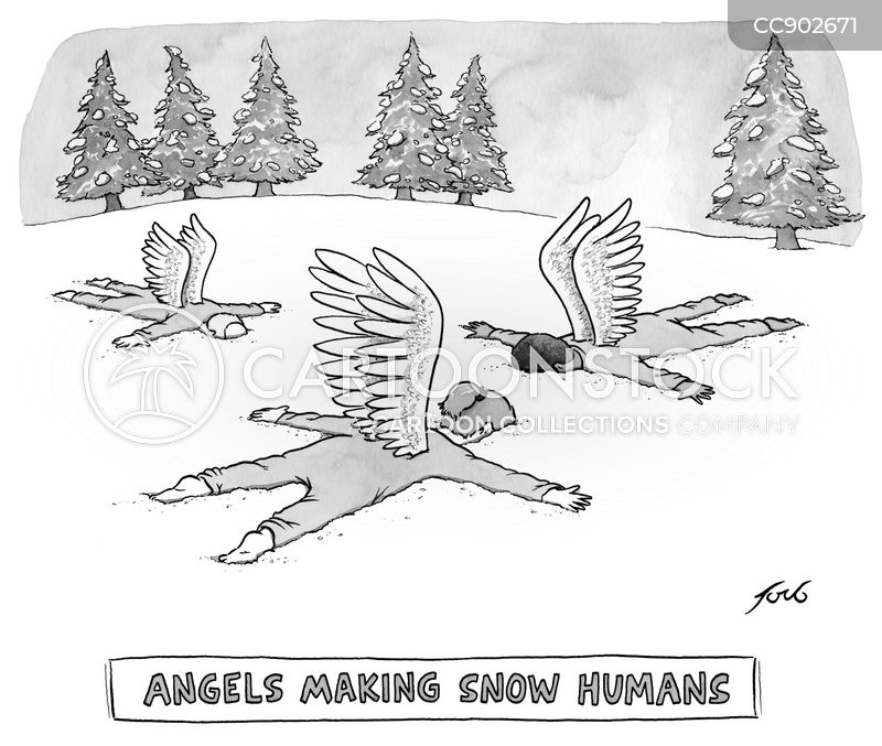 snow angel cartoon