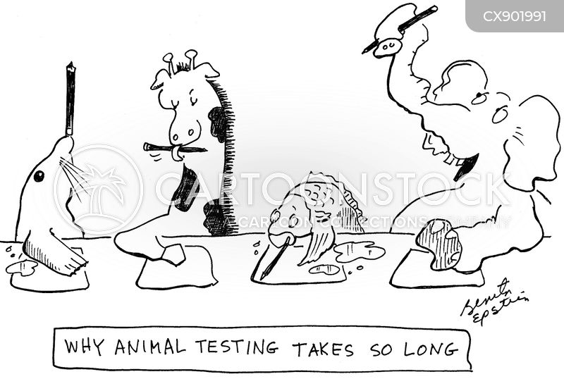 animal experiment cartoon