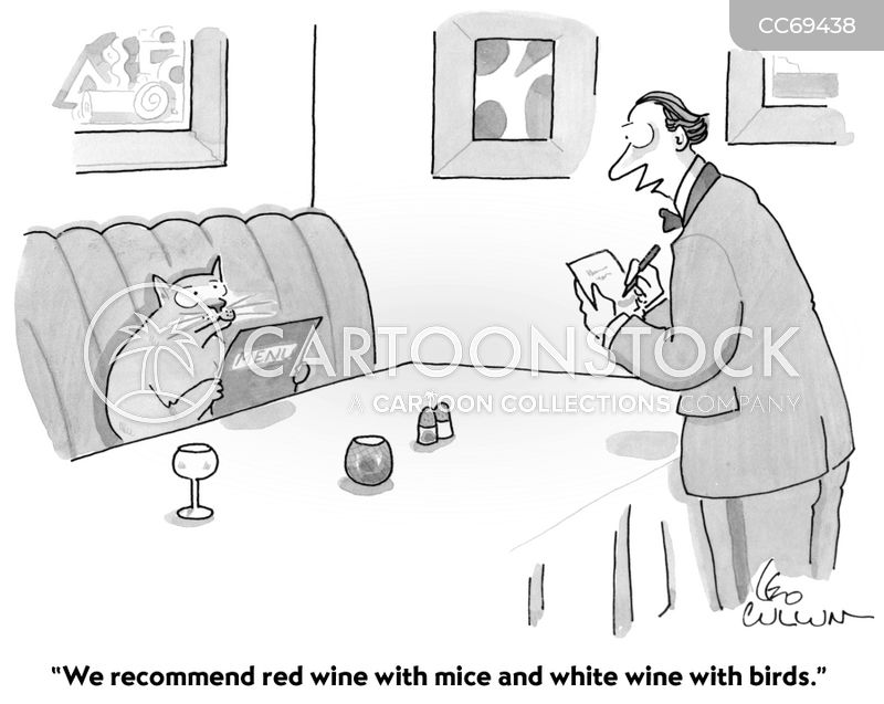 sommelier cartoon
