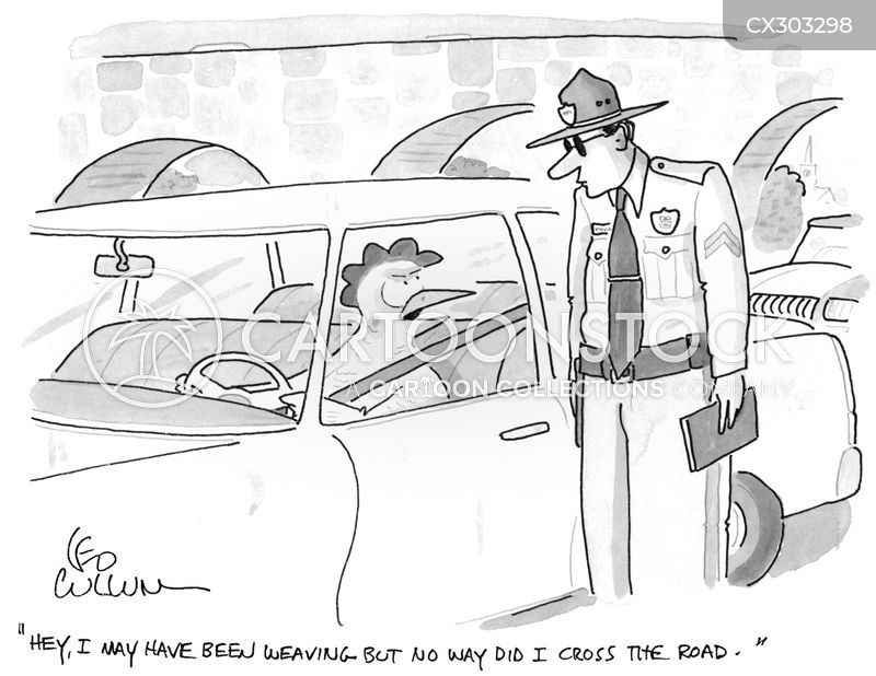 traffic stops cartoon