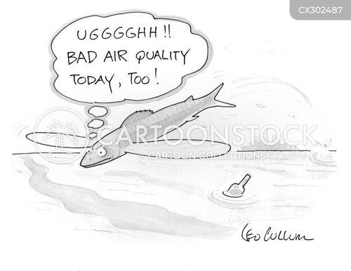 air pollution cartoon