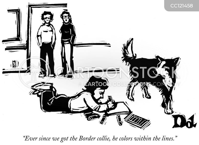 border collies cartoon