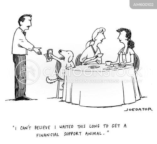 paying the bill cartoon