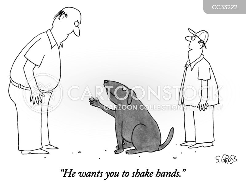 Handshake cartoon
