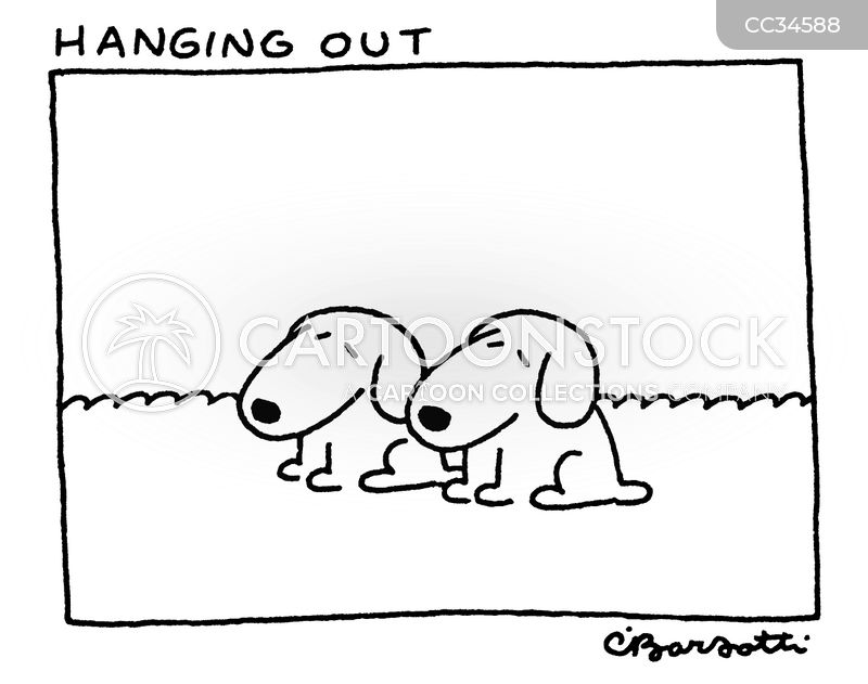 hanging out cartoon