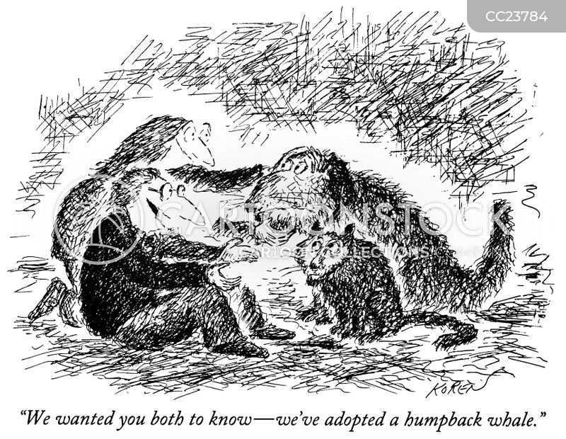 Humpback Whales cartoon
