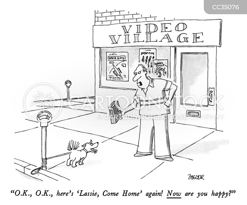 rental shop cartoon