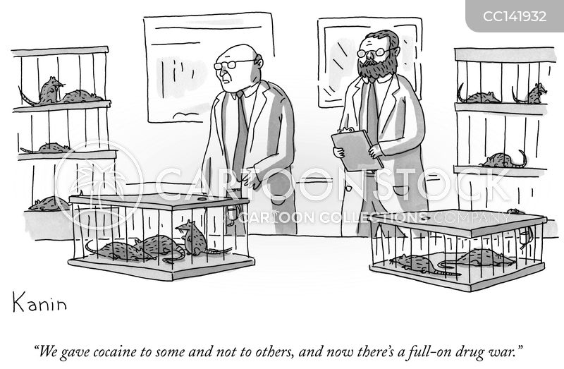 laboratory cartoon