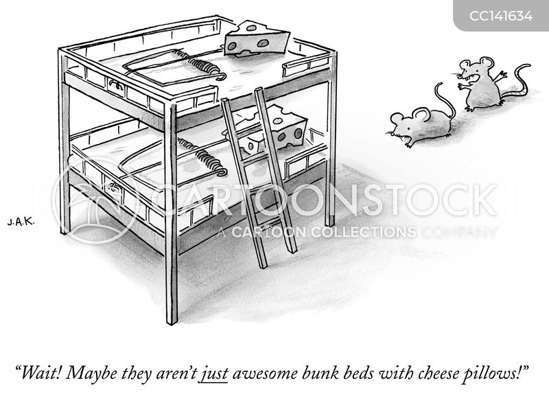 bed cartoon