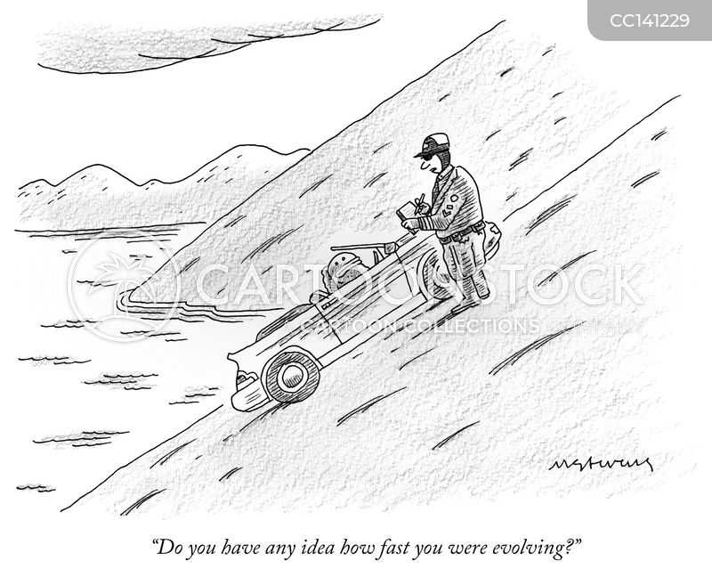 speeding cartoon