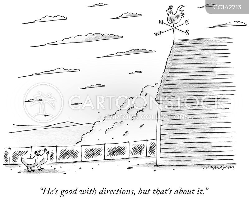 weathercock cartoon