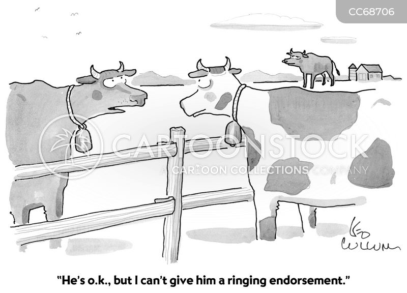 endorsement cartoon
